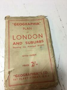 London Goegraphica map of London Antique Map