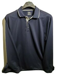 PGA Tour Mens 2XL Golf Shirt Long Sleeve Pull Over Casual Pre Owned Sports