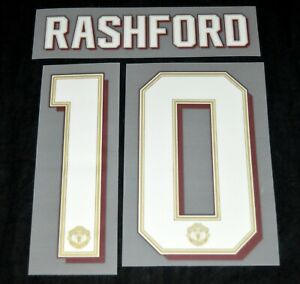 Manchester United Champions league/FA Cup Name/Number rashford 10 Child/youth