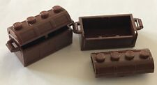 *New* 5 Sets Lego Treasure Chest Reddish Brown 2X4X2 Pirate Slot In Back