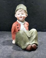 German, Gebruder Heubach Bisque Dutch Style Seated Child Figurine - MINT