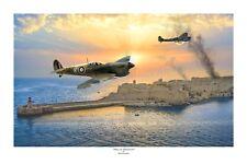 """WWII WW2 RAAF RAF Ace Goldsmith Spitfire Aviation Art Photo Print - 12"""" X 18"""""""