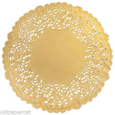 """50 - 12"""" GOLD Metallic FOIL Paper Lace DOILIES 