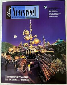 RARE MAY 1998 DISNEY NEWSREEL CAST NEWSLETTER DISNEYLAND NEW TOMORROWLAND