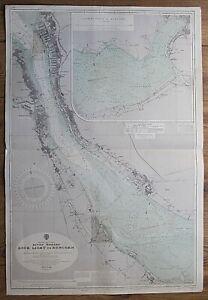 RIVER MERSEY LIVERPOOL ROCK LIGHT TO RUNCORN VINTAGE ADMIRALTY CHART MAP