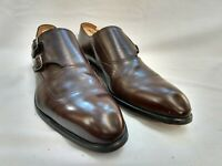 Barrett, Wilkes Bashford, Brown Leather Monk Strap Shoes 621024 Men's Size 10M
