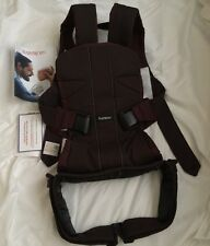 BabyBjörn Baby Carrier One - Blackberry Red/Brown  - Cotton Mix ~EUC