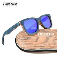 hommes femmes bambou polarisé lunettes de soleil planche à roulette boislunettes