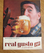 1964 Schlitz Beer Ad How do You follow an act like this? With Another Schlitz