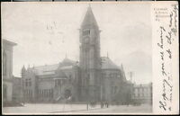 ALLEGHENY PA Carnegie Library Antique Town View Postcard Old Vtg Early B&W 1906