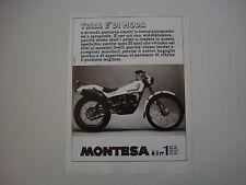advertising Pubblicità 1981 MOTO MONTESA COTA 349
