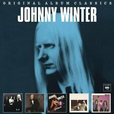 JOHNNY WINTER 5CD NEW And/John Dawson III/Captured Live/Nothin But Blues/Raisin'
