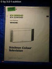 Sony Bedienungsanleitung KV 28WS4D / 32WS4D Color TV (#1743)