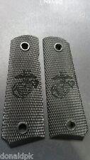 1911 BLACK USMC EGA  laser engraved grips full size Kimber Springfield semper fi