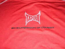 Mens Tapout An Expression of Combat MMA Sleeveless Red Shirt Training Workout L