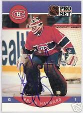 BRIAN  HAYWARD Montreal Canadiens 1991 PRO SET   AUTOGRAPHED HOCKEY CARD JSA