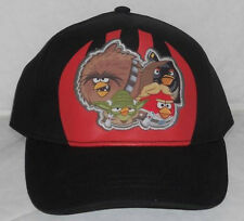 ANGRY BIRDS STAR WARS BLACK SNAPBACK BALL CAP - YOUTH ONE SIZE FITS MOST