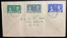 1938 Turks & Caicos Island Cover King George VI Coronation KG6