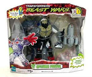 Transformers Beast Wars Optimus Primal 10th Anniversary comic book Axalon ship