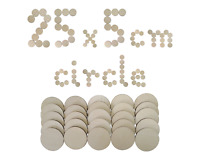 Wooden Circle Disc Plaque 5cm 25 pieces Craft Shapes Wood DIY Decoration Plywood