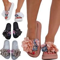 Ciabatte ciabattine donna flatform fiori gomma sabot sandali scarpe GS-5512