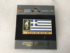 1996 Olympics Atlanta Greece pin mint on card
