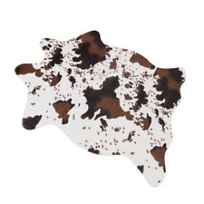 Small Cowhide Rug Cowskin Hide Carpet 3.6x2.5 Feet PRINT Entry Area Rug