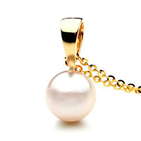 9mm White Akoya Saltwater Pearl Pendant Australia Pacific Pearls® Gifts for Wife