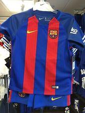 Team FC Barcelona XS Age 3/4 Little Boys Soccer Kits Jersey Shorts Socks