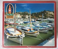 Old Port Calanques France Jigsaw Puzzle Sailboats at Dock 300 Pc 20x26 New