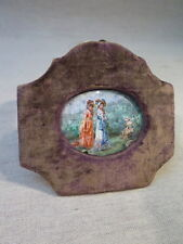 Jose of Cala Y Moya Antique Miniature Painted on Email Jeunes Women XIX ° Th