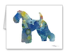 Kerry Blue Terrier Note Cards With Envelopes