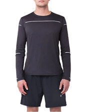 New Asics Men's LONG Sleeve top/ASICS D1/RUNNING/black/ sport top/stretchy/£45