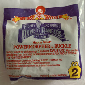 Vtg 90's McDonald's Happy Meal Toy Morphin Power Rangers Powermorpher Buckle New