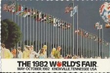 """The Court of Flags"" 1982 World's Fair Deckle Edged Postcard"
