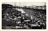 San Francisco CA Fisherman's Wharf RPPC Postcard unused 1940s