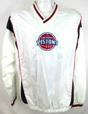Detroit Pistons Mens X-Large Embroidered Pullover Windbreaker Jacket DPT 5
