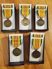 Lot Of 5 Original Vietnam War Era GI Issue Vietnam Service Medal set Vintage
