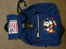 Vintage mickey mouse backpack, blue