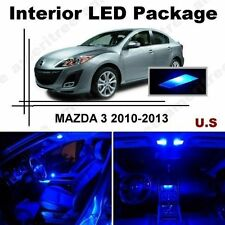 Blue LED Lights Interior Package Kit for Mazda 3 2010-13 ( 6 Pieces )