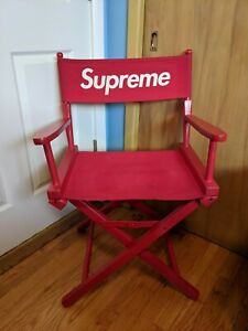 100% Authentic Supreme Red Directors Chair Used