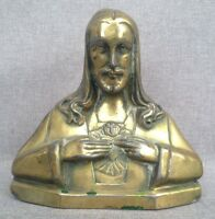 Antique Art-Deco belgian jesus christ sculpture 1930's signed F Dengler