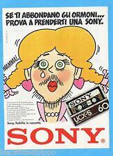 QUATTROR983-PUBBLICITA'/ADVERTISING-1983- SONY - CASSETTE UCX-S