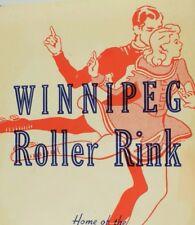 1930's-50's Winnipeg Rink Roller Skating Luggage Label B1