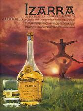 Publicité Advertising  IZARRA liqueur de la cote basque