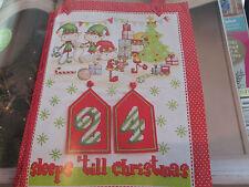 """""""Santa's Little Helpers's advent calendar cross stitch chart (uniquement)"""