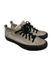 Converse 155363C Chuck II Reflective Knit Shoes White Dolphin Knit Black 8M 10W