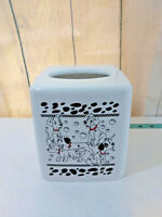VTG Disney 101 Dalmatian Tissue Box Holder Cover Dispenser White Plastic