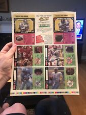 1993 Action Packed Barry sanders Prototype Uncut sheet Emmitt Smith Young moon N