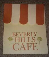 BEVERLY HILLS CAFE 1970's Restaurant Menu TOLEDO OHIO VINTAGE 5212 MONROE STREET